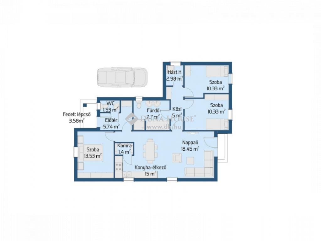 Eladó Ház, Bács-Kiskun megye, Kecskemét - 90 nm-es új építésű ház, 900 nm-es telken ( belső )