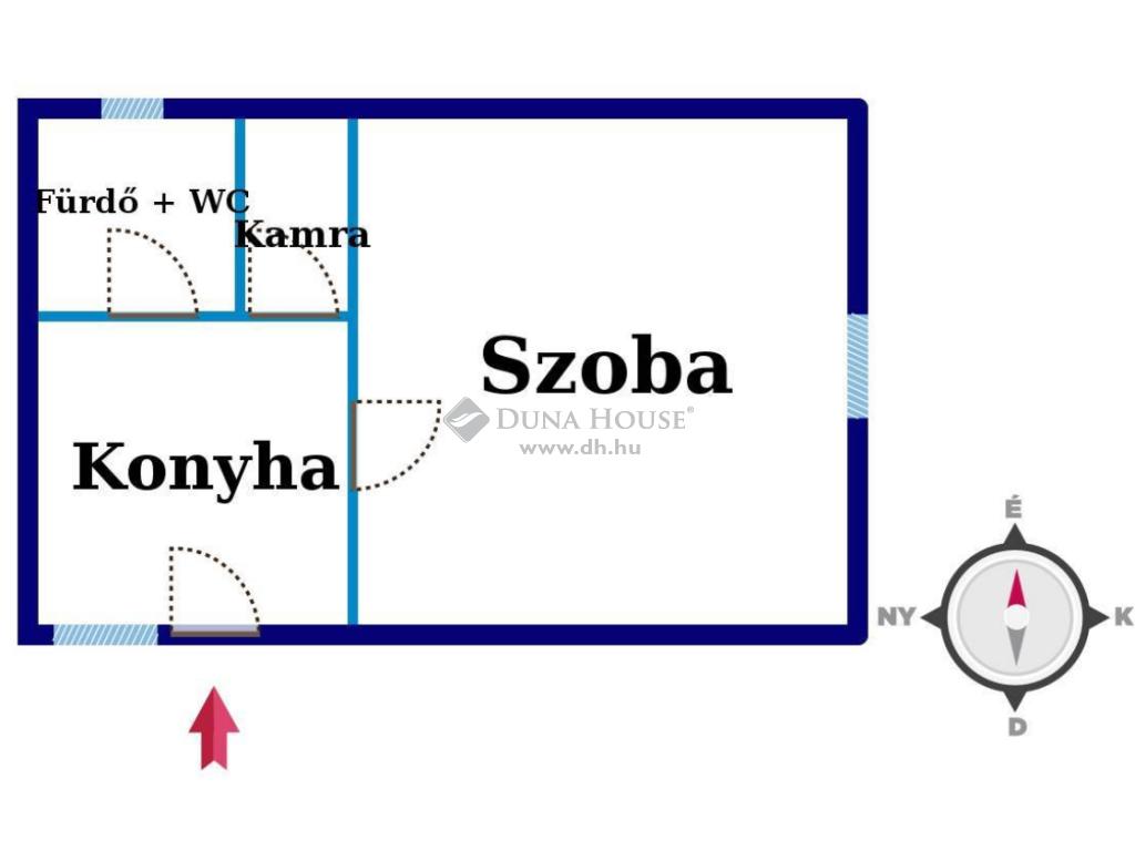 Eladó Ház, Bács-Kiskun megye, Kiskunfélegyháza - Utcai házrész jó környezetben